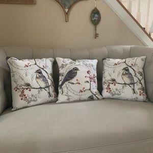 Other - 3 Little Birds hand made throw pillows